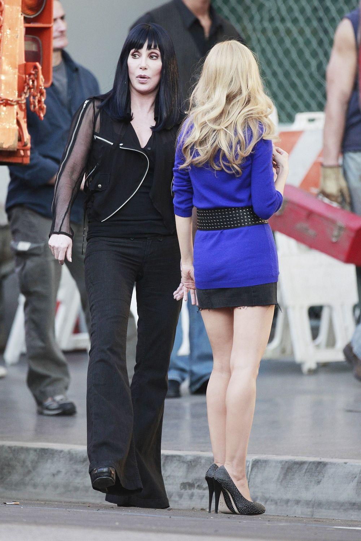Christina Aguilera Mini Skirt