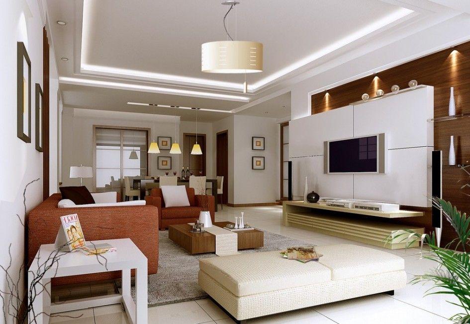 Big Living Room Interior Design Ideas With Pendant Light Flat Tv