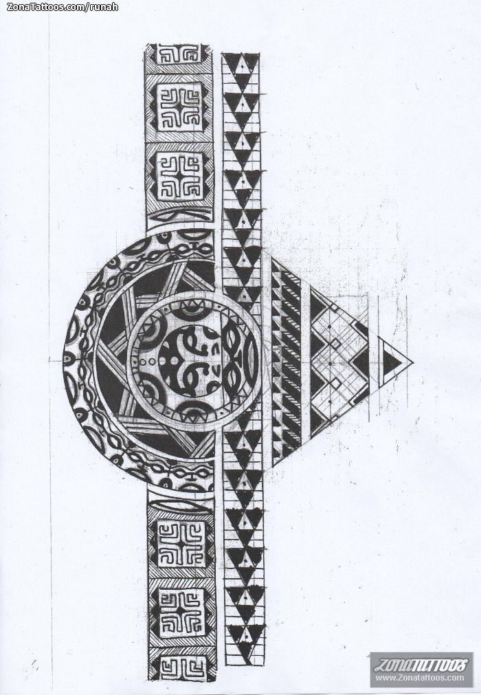 b74074207 diseño tatuaje brazalete - Buscar con Google Mayan Tattoos, Filipino Tattoos,  Leg Tattoos,