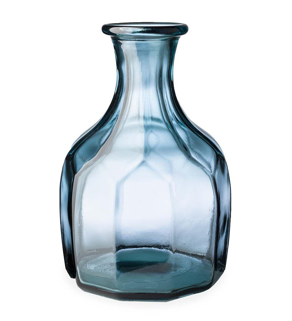 Zeta Geometric Recycled Glass Vase In 2020 Vase Recycled Glass Vases Woven Vase