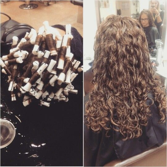Long Hair Piggyback Perm Long Hair Perm Long Hair Styles Curled Hairstyles For Medium Hair