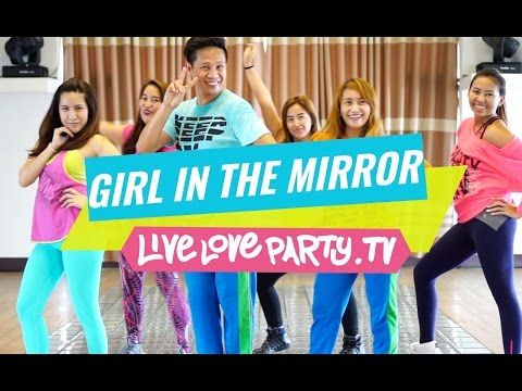Girl In The Mirror Watch On Computer Zumba Dance Fitness Live Love Party Youtube Zumba Dance Dance Workout Zumba Workout