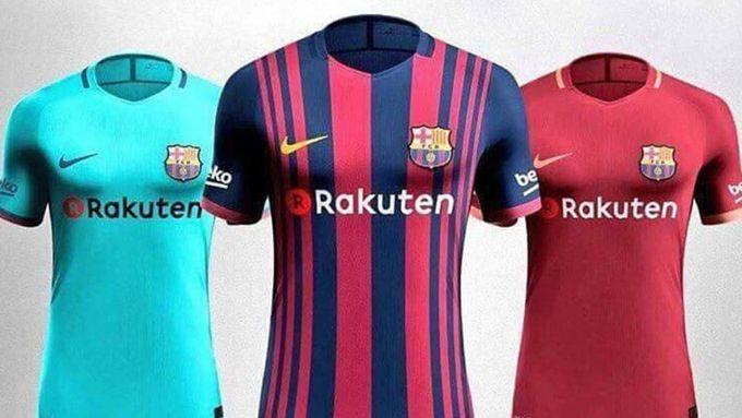 FC Barcelona presentó sus nuevas camisetas para el 2017-18  Deportes  Fútbol 543c0f3424441