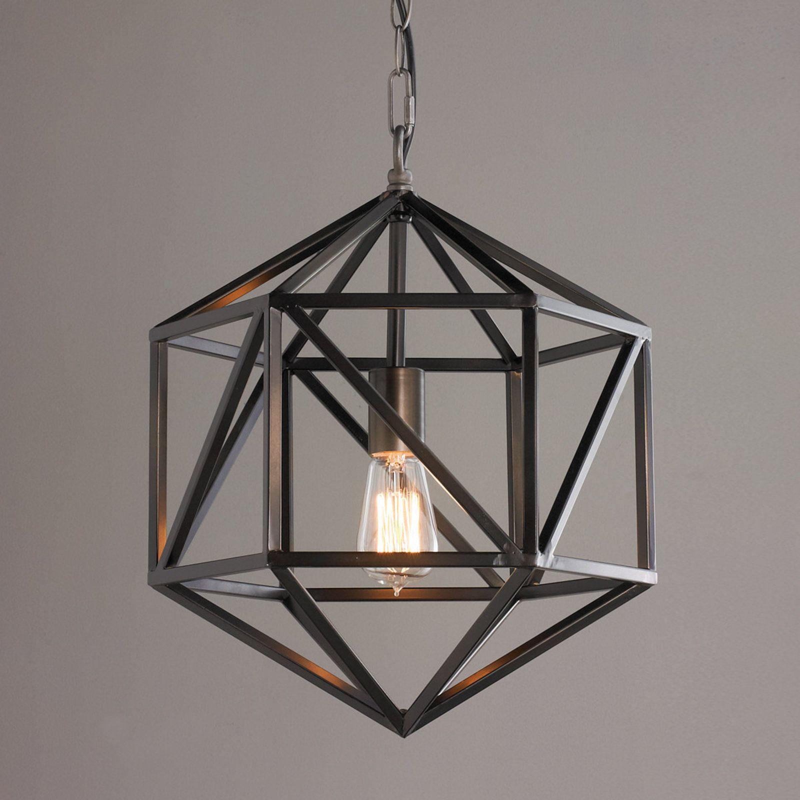 Prism Cage Pendant Light Bronze Cage Pendant Light Geometric Light Fixture Geometric Pendant Light