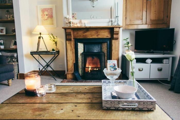 ▷ 1001 + Ideen für moderne Wohnzimmer Landhausstil Einrichtung