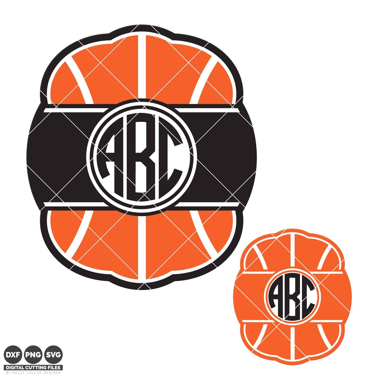 Basketball Monogram svg files work great with initials