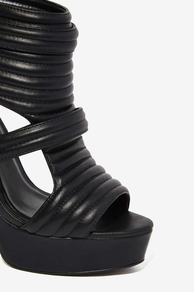 Nasty Gal Renegade Moto Platform - Shoes | Heels | Open Toe | $75 - $100