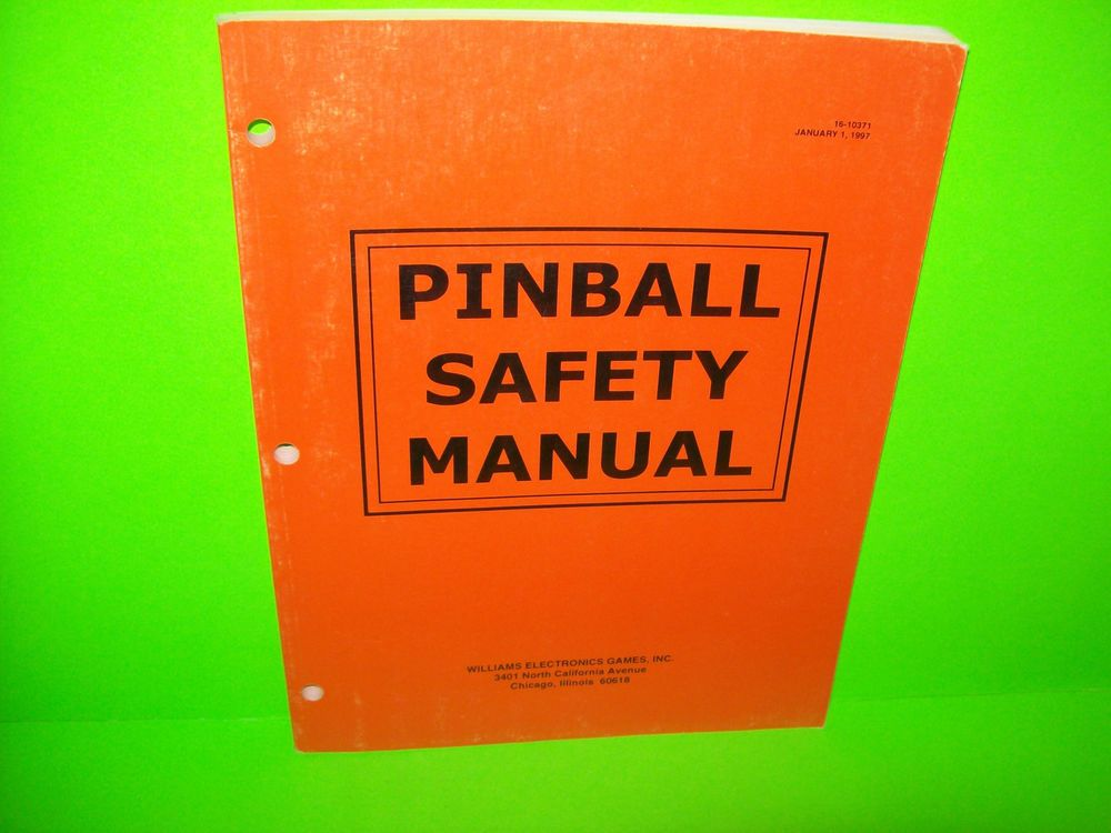Williams  Original Pinball Machine Safety Manual Scared Stiff