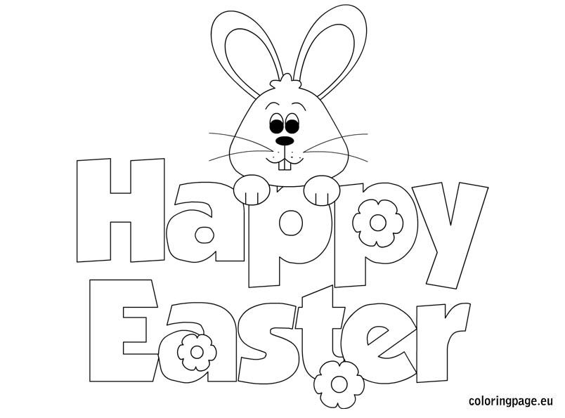 Easter Coloring Happy Easter Easter Pinterest