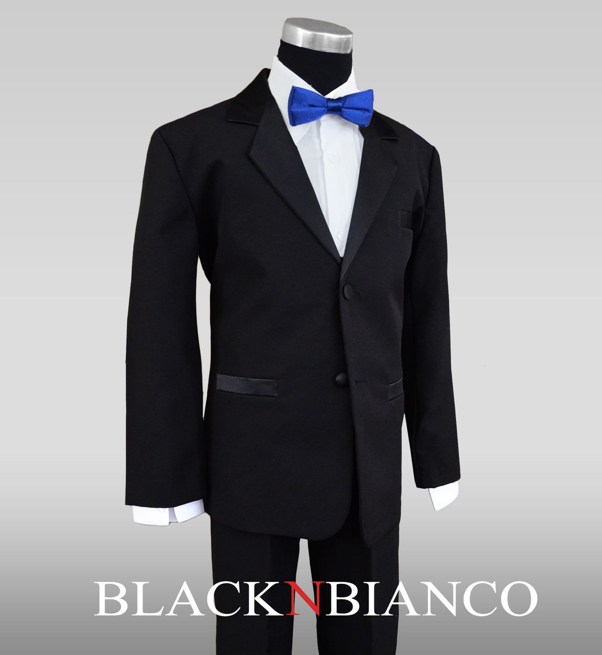 Boys Tuxedo with Royal Blue Slim Bow Tie | Pinterest