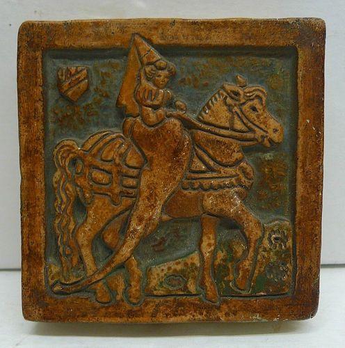 Claycraft Potteries, Los Angeles, CA  1921-1939. Maiden on horseback.