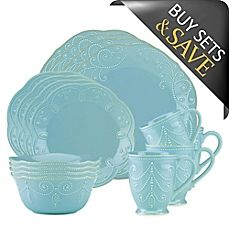 image of Lenox® French Perle 16-Piece Dinnerware Set in Robin's Egg