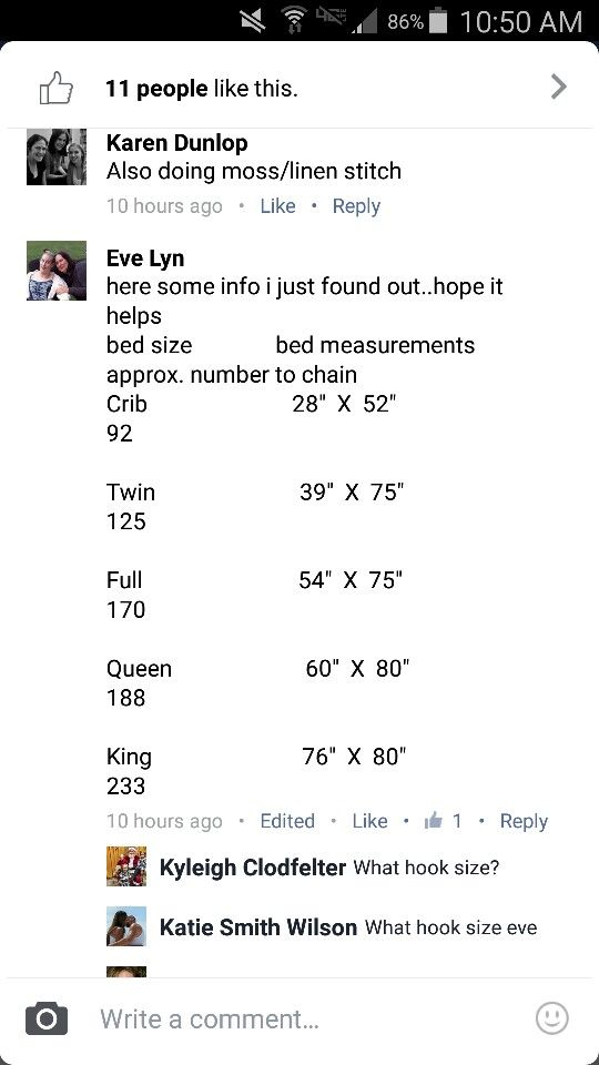 Bed measurement
