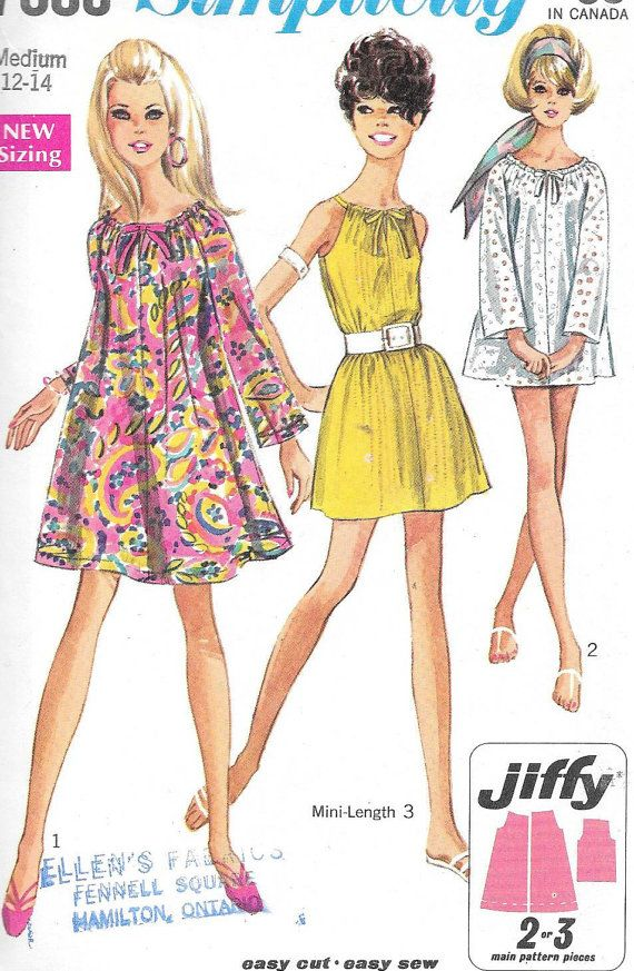 Vintage 1960s Simplicity Sewing Pattern by SewAddicted2SewMuch ...