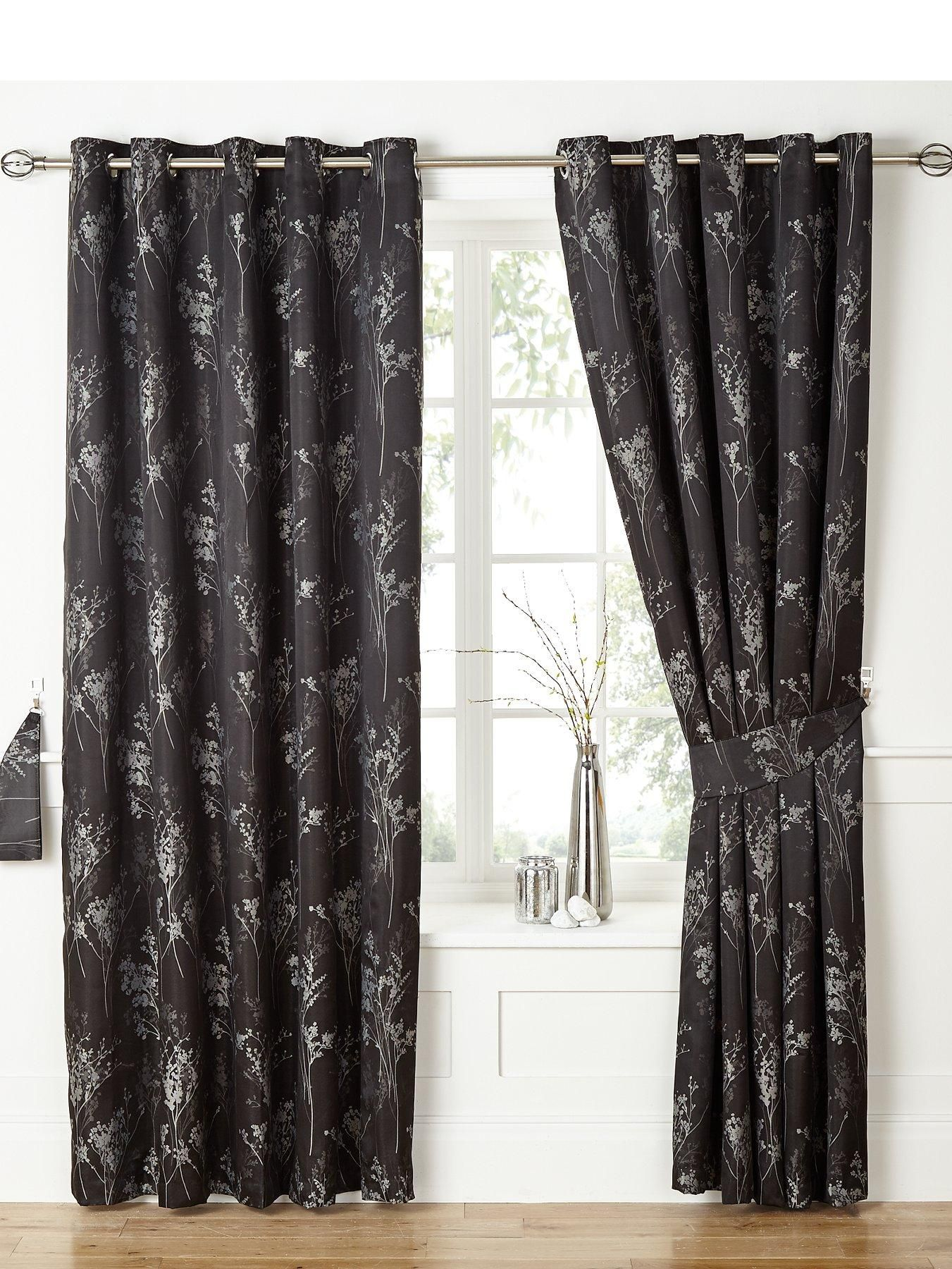 Windsor teal eyelet curtains harry corry limited - Tokyo Jacquard Thermal Blackout Eyelet Curtains