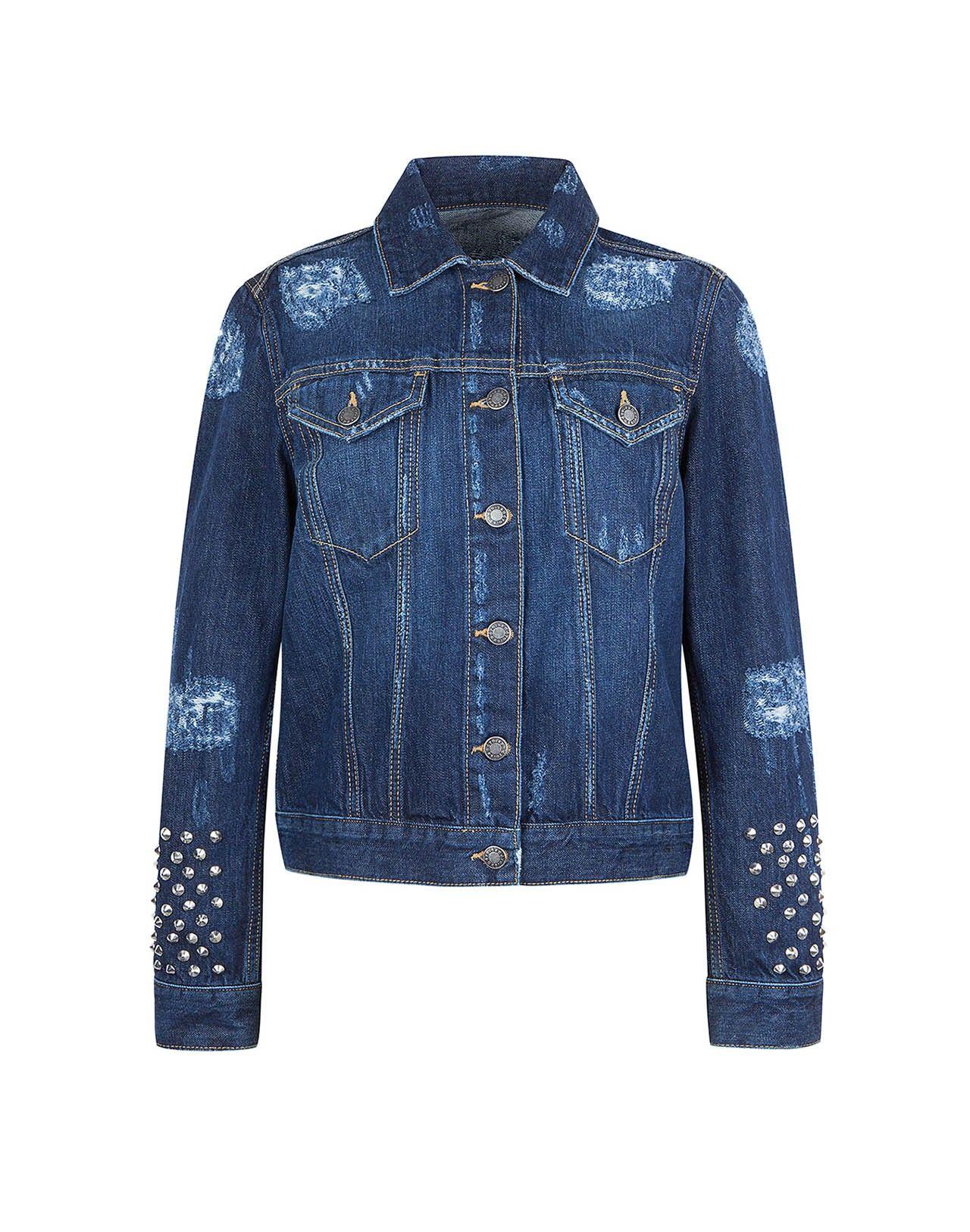 Vintage Sale Women Sandro Fashion Vintage Jean Jacket Distressed Denim Jacket [ 1625 x 1280 Pixel ]