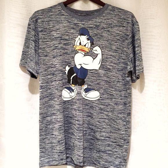 Disney Buff Donald Duck Blue Gym Men's T Shirt Brand new