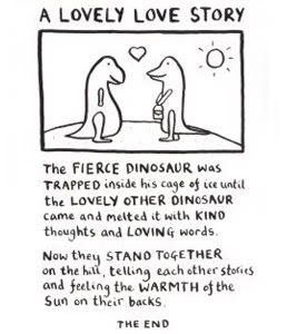 A Lovely Love Story Fun Wedding Reading With Dinosaurs