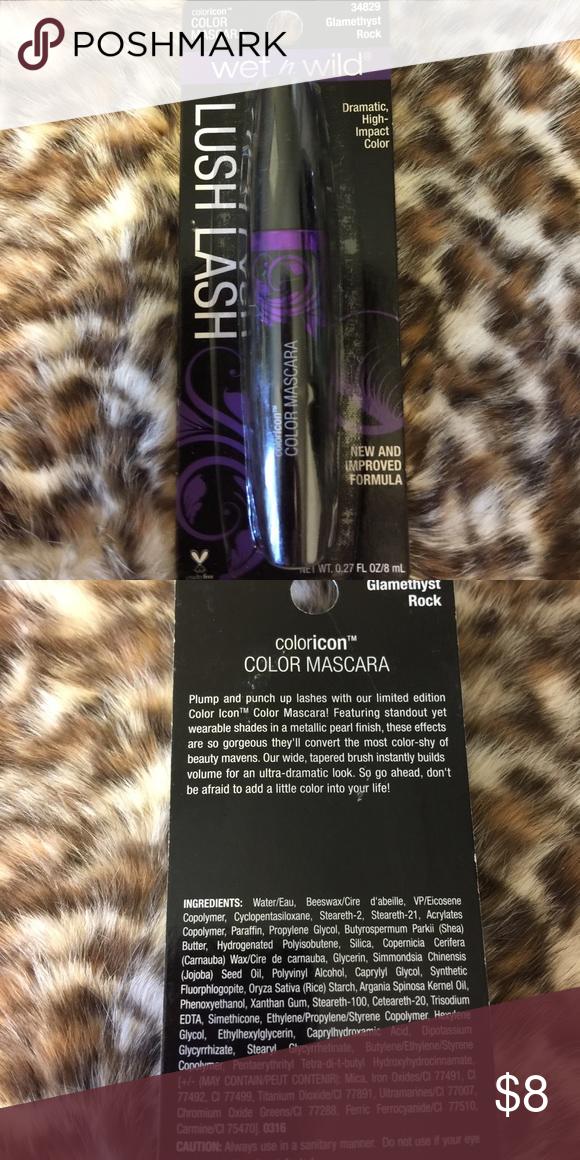 🆕 color mascara Wet n wild lush lash mascara in 'glamethyst rock' wet n wild Makeup Mascara
