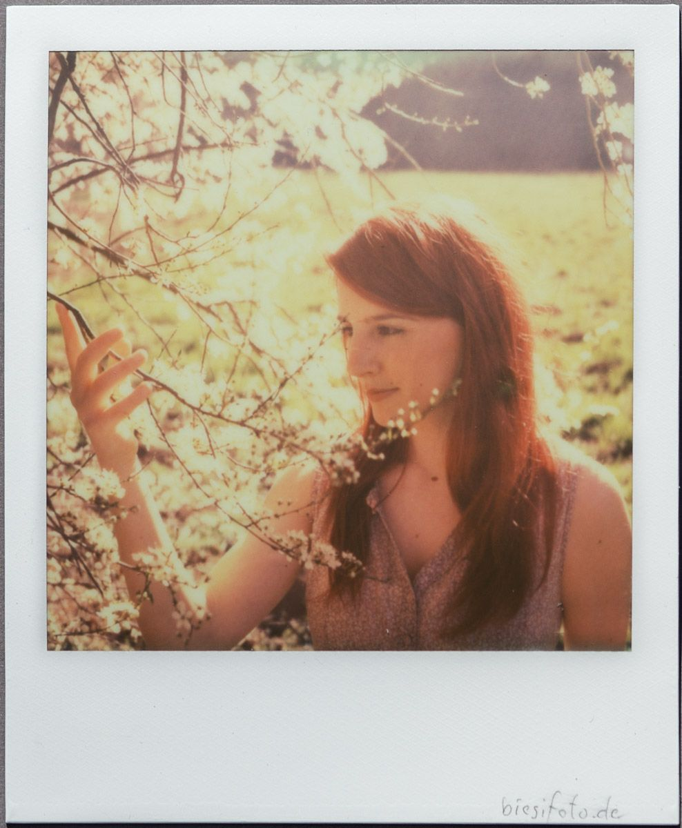 Lean in spring. SX-70.