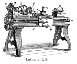 A lathe from 1911. A type of machine tool able to make