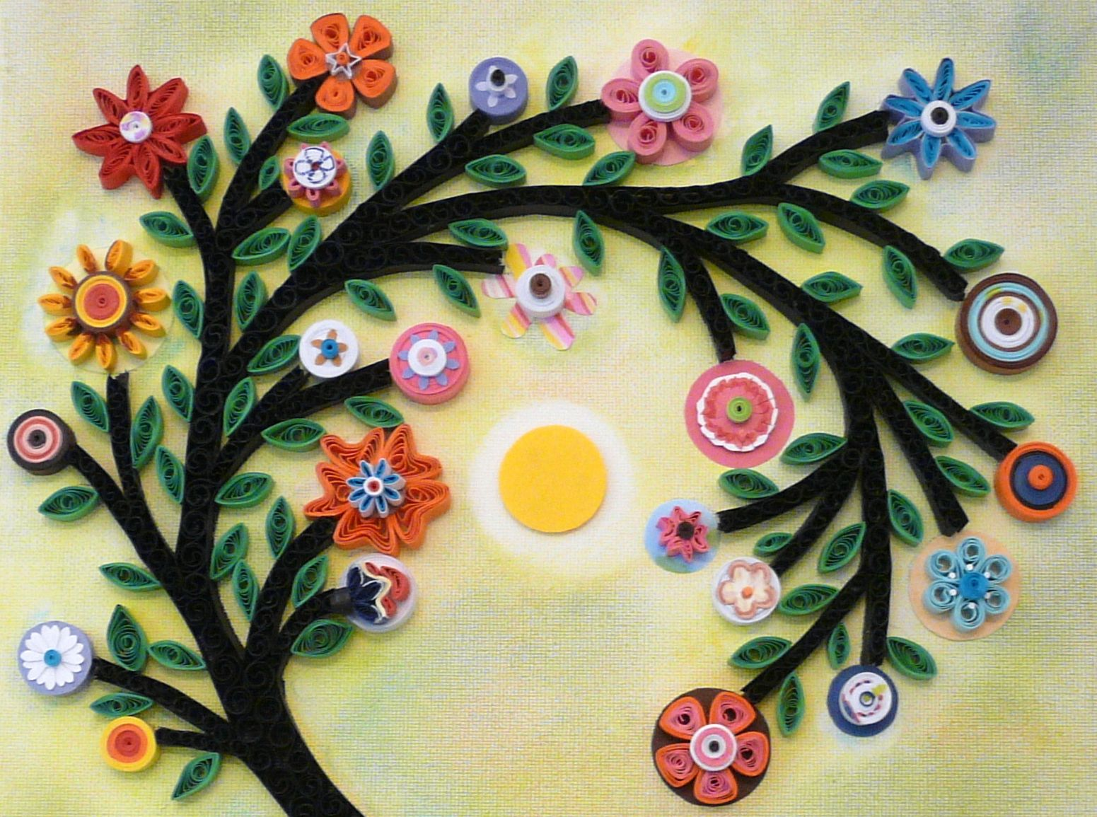 A close up of my Karla Gerard quilled tree. | квиллинг | Pinterest ...