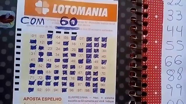 Lotomania 60 Numeros Copie E Jogue Lotomania