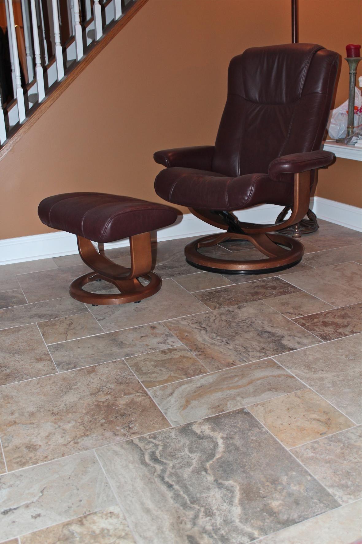 Tile Floor In Family Room  Floored  Pinterest  Tile Flooring Simple Living Room Floor Tiles Design 2018
