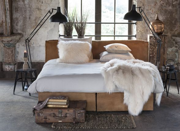 Modern Bed Kopen.Fake Fur Gobi Bear Creme Essenza Bontplaid Alternatives