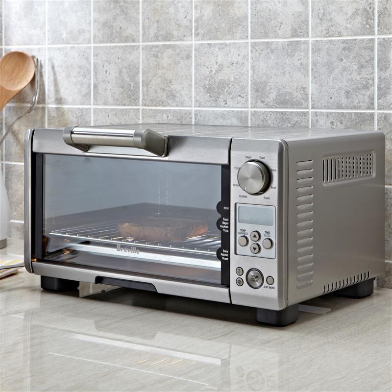 Breville Mini Smart Toaster Oven 4 Slice Brushed Stainless Steel Kitchen Stuff Plus