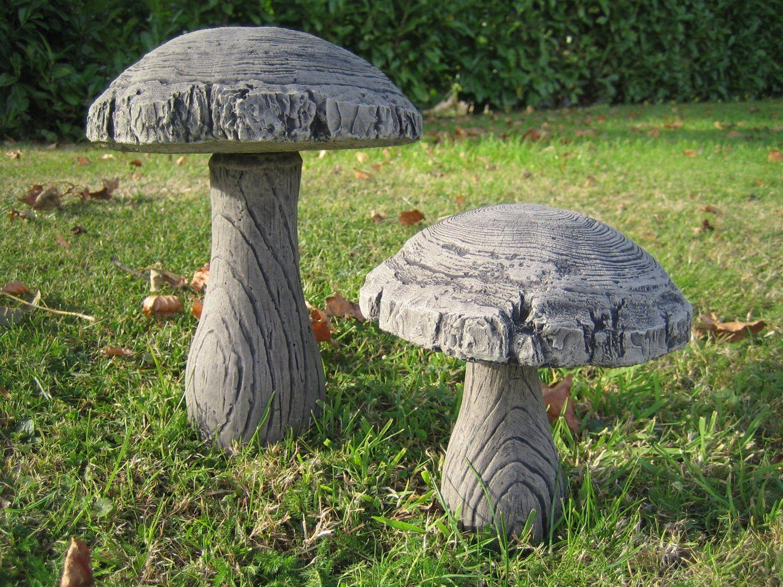 Woodland Mushroom (SET A) stone garden ornament: Amazon.co.uk ...