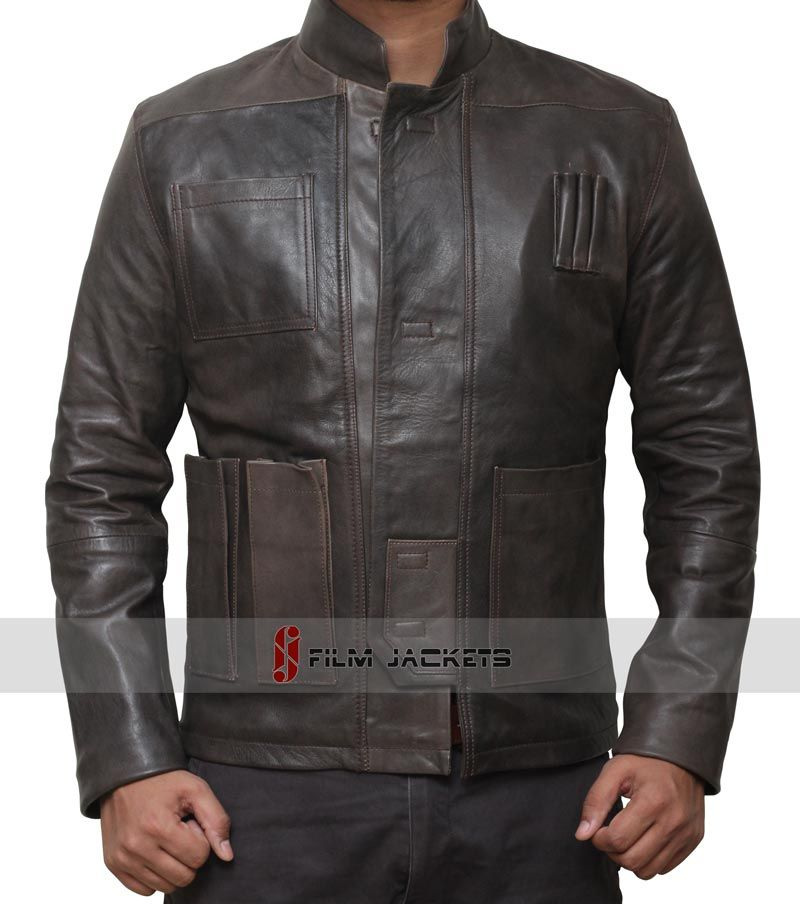 Harrison Ford Han Solo Star Wars the Force Awakens Leather Jacket