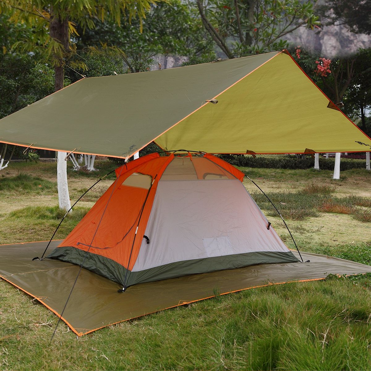 Free Soldier Waterproof Portable Tarp Multifunctional Outdoor Camping Awning Backpacking Rain Tarp Camping Tarp Tent Tent Camping