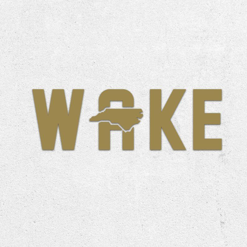 Wake forest vinyl decal wake forest university north