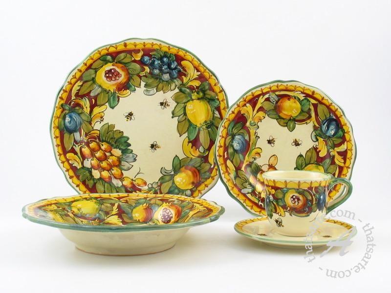 How to Archivi - thatsArte.com Italian Pottery Journal. Tuscany KitchenItalian PotteryDinnerware SetsCrockery ... & Italian Tableware | Italian dinnerware - Toscana Rosso by Ammannati ...