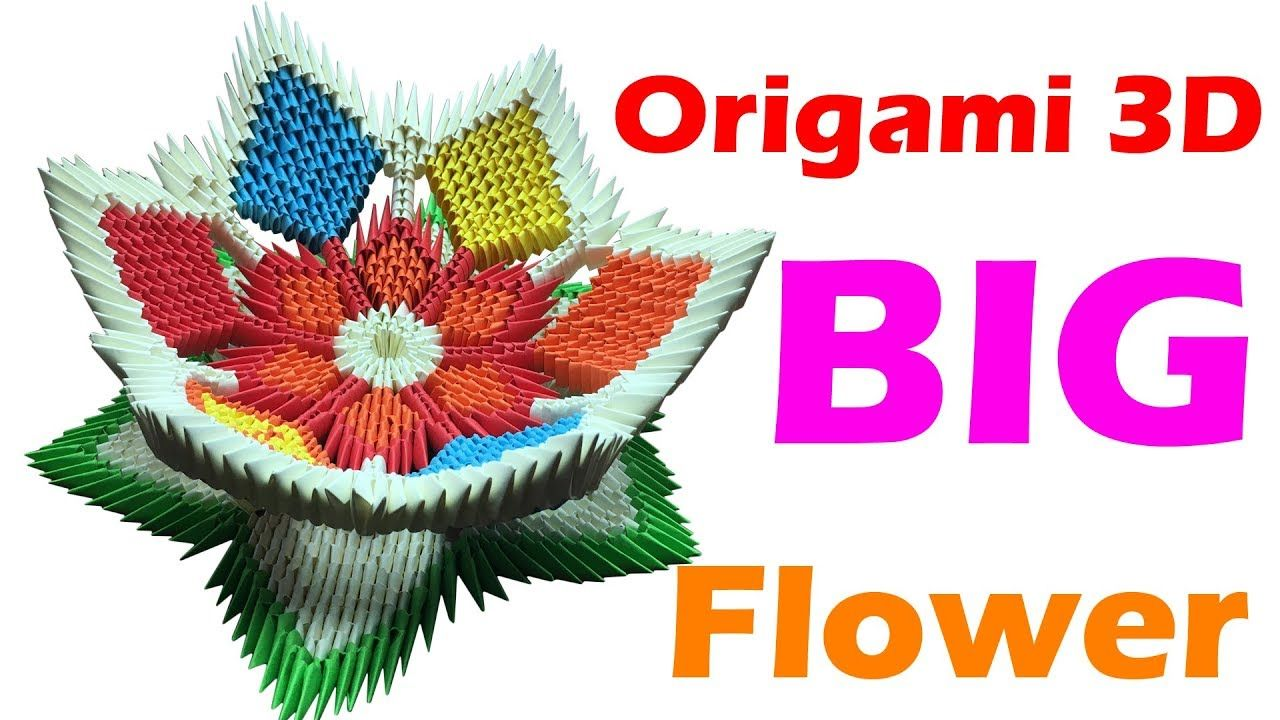 How To Make Origami 3d Flower With 4 Step Tutorials Paper Origami