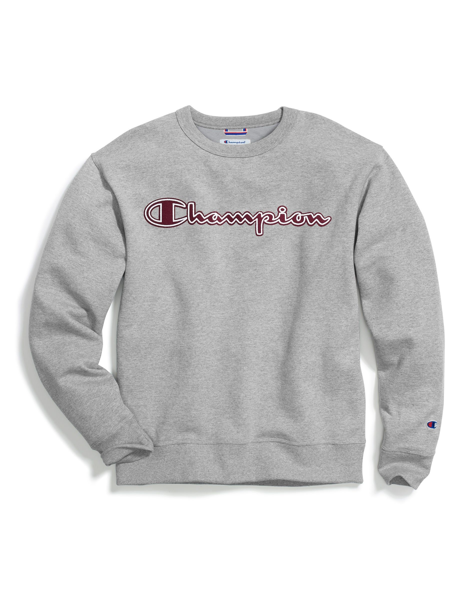 Champion Men S Powerblend Fleece Crewneck Sweatshirt Screenprint Logo S Xl Champion Sweatshirt Script Logo Crew Neck Sweatshirt Mens Sweatshirts [ 1000 x 1000 Pixel ]