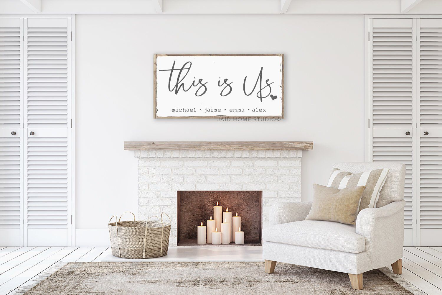 This Is Us Sign This Is Us This Is Us Wood Sign Personalized