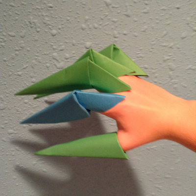 how to make origami paper claws