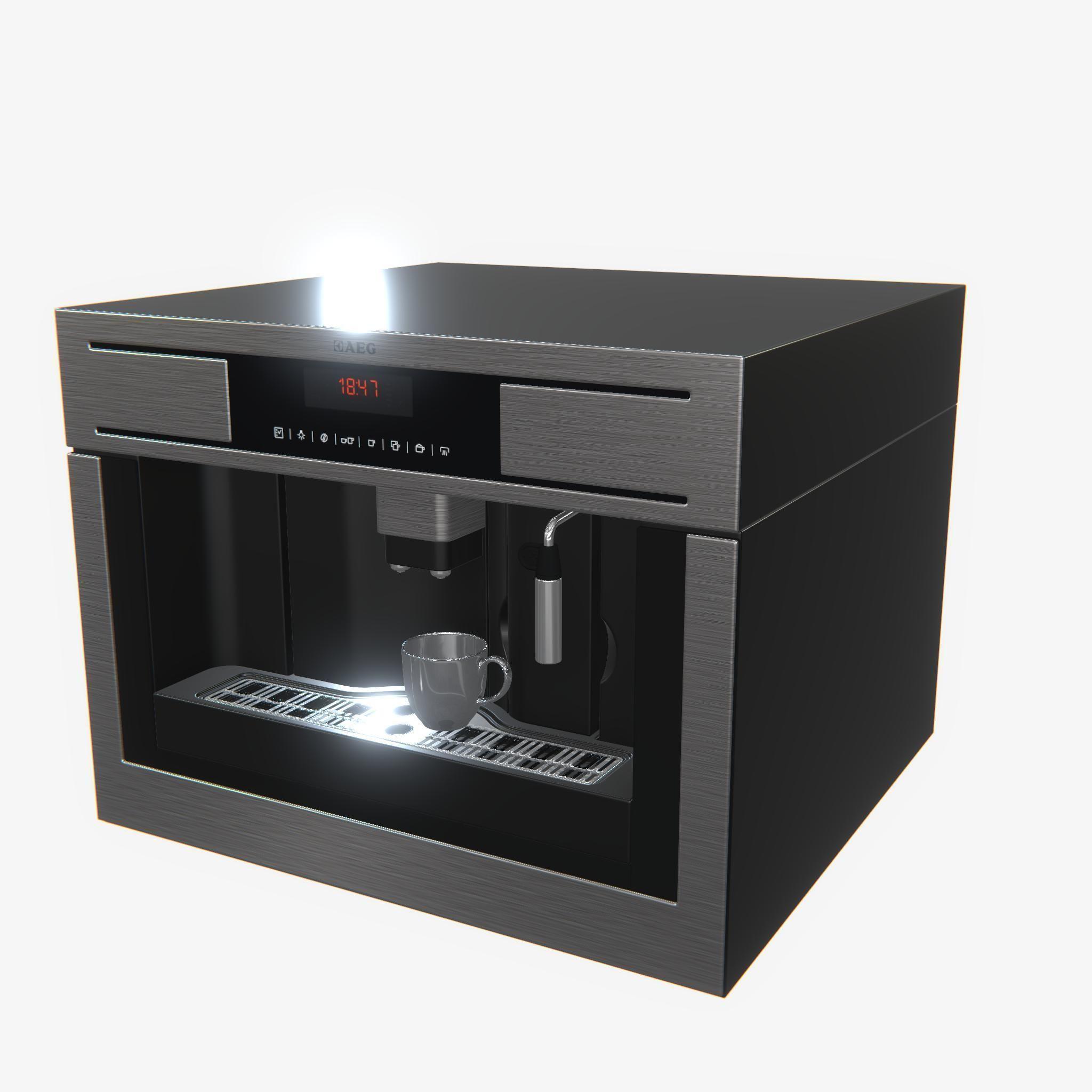 Highly detailed coffee machine aeg pbr 3d model aeg
