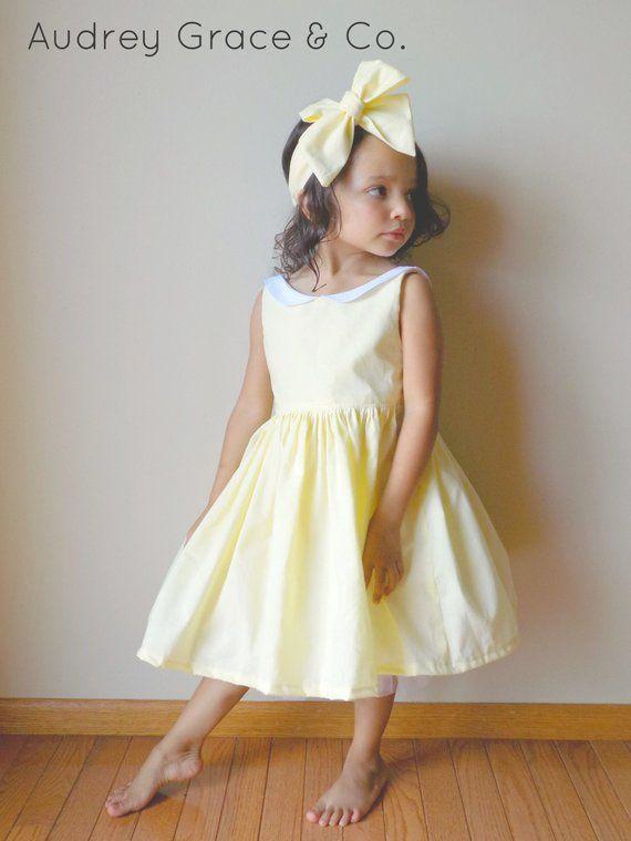 0ab0aaca48f Light Yellow Girls Easter Dress