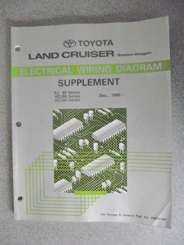 toyota land cruiser electrical wiring manual 1990 ewd114f cars rh pinterest com