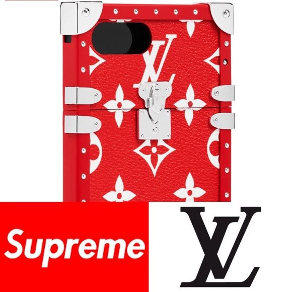 "Supreme x LouisVuitton Red iPhone 7+ Monogram Case EYE TRUNK iPhone 7+ SP MNG DW  Purchased directly through Louis Vuitton VIP Client services. Please see my other luxury item listings!   EXTREMELY LIMITED AND RARE. The collab is unavailable for purchase in Vuitton stores and pop ups are suspended indefinitely.    Brand new with tags and box  Dimensions: length 6.625"" x width 3.5"" depth 0.375""  100% Authentic, in hand ready to ship  Free US shipping!   Accepting reasonable offers. Louis…"
