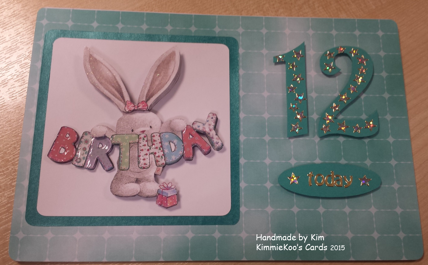 Bebunni 12th Birthday Card From Crafters Companion Bebunni Birthday