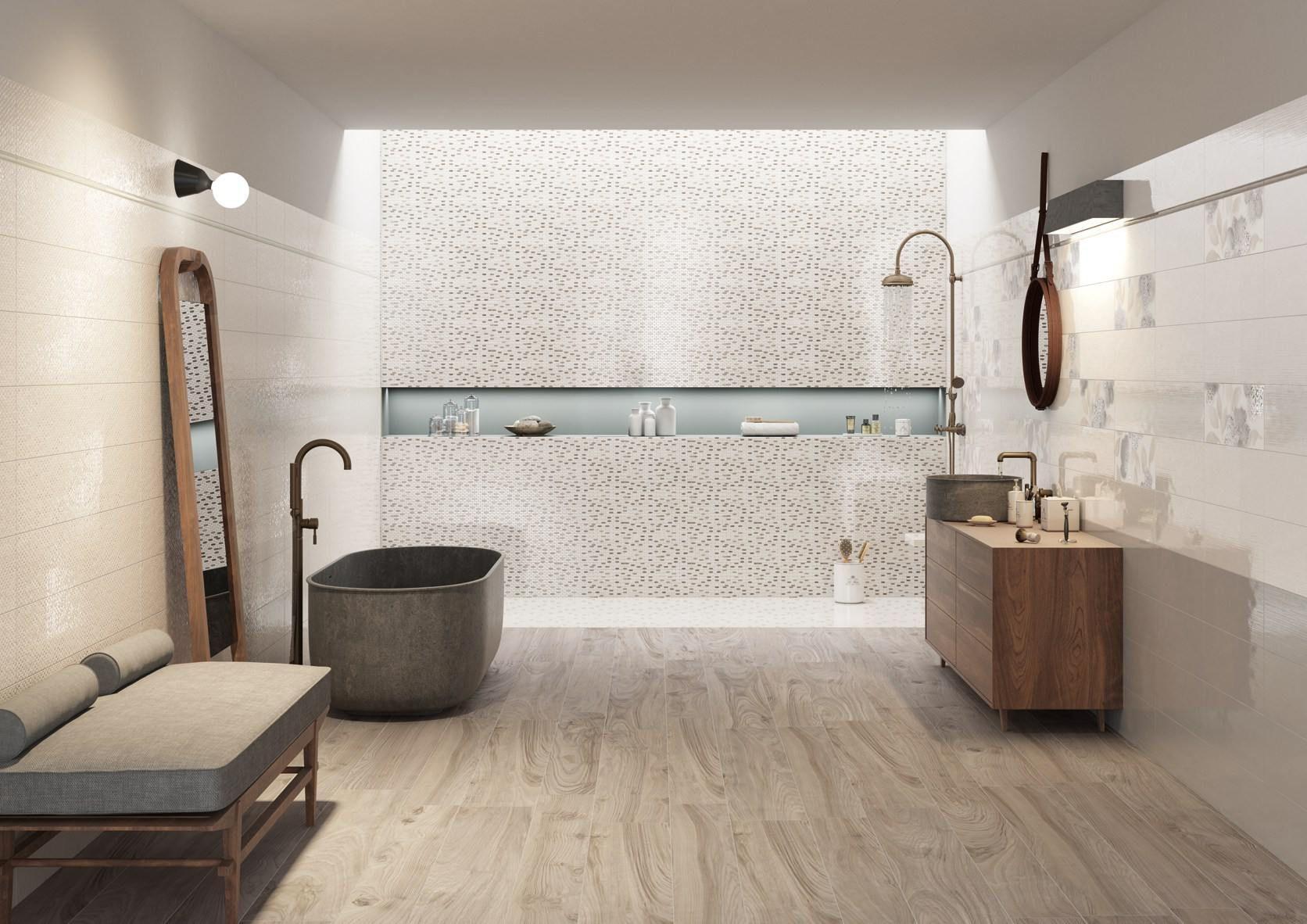 Arredo bagno con pavimento effetto legno rivestimenti effetto legno tendenze per il bagno il - Pavimento bagno effetto legno ...