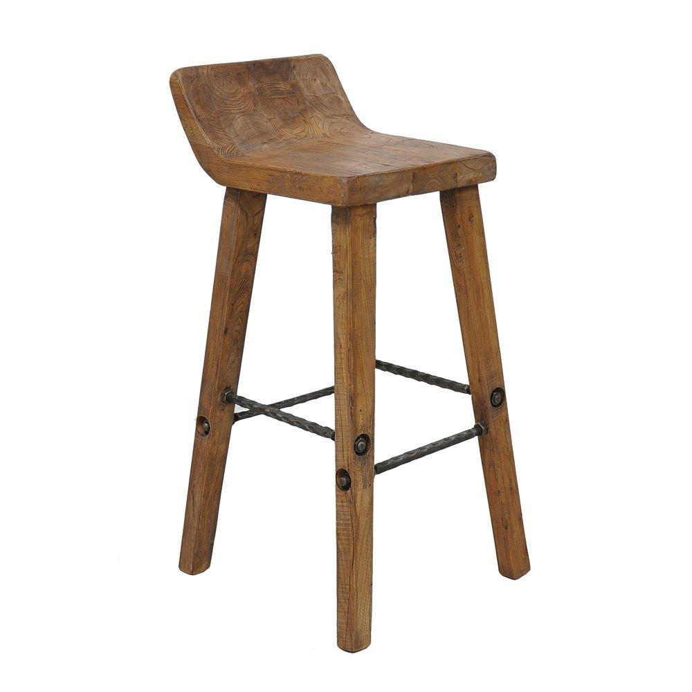 rustic wood bar stools. Tam Rustic Wood Natural 30-inch Barstool Stool By Kosas Home Bar Stools