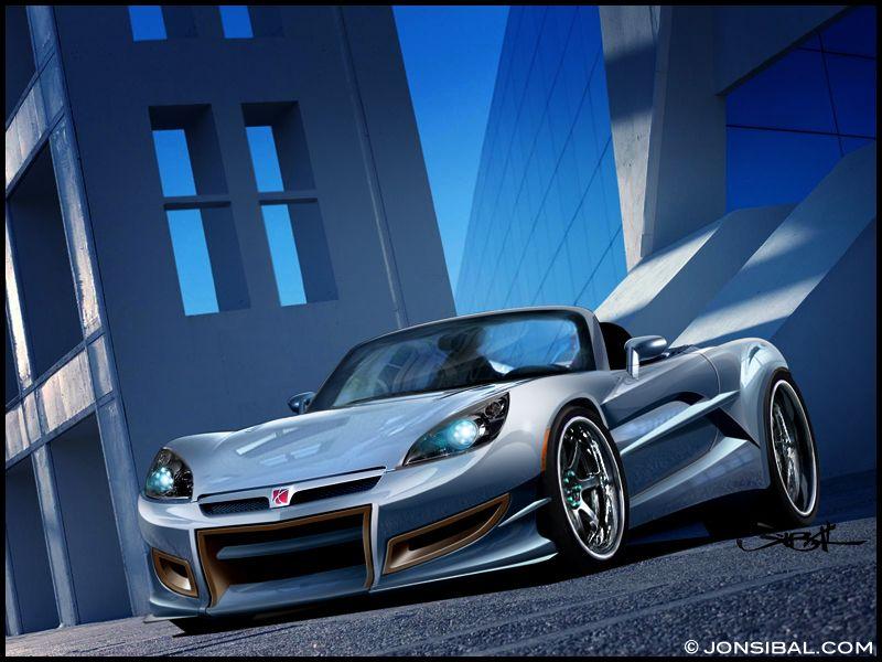 Sports Cars · Saturn SKY Blue
