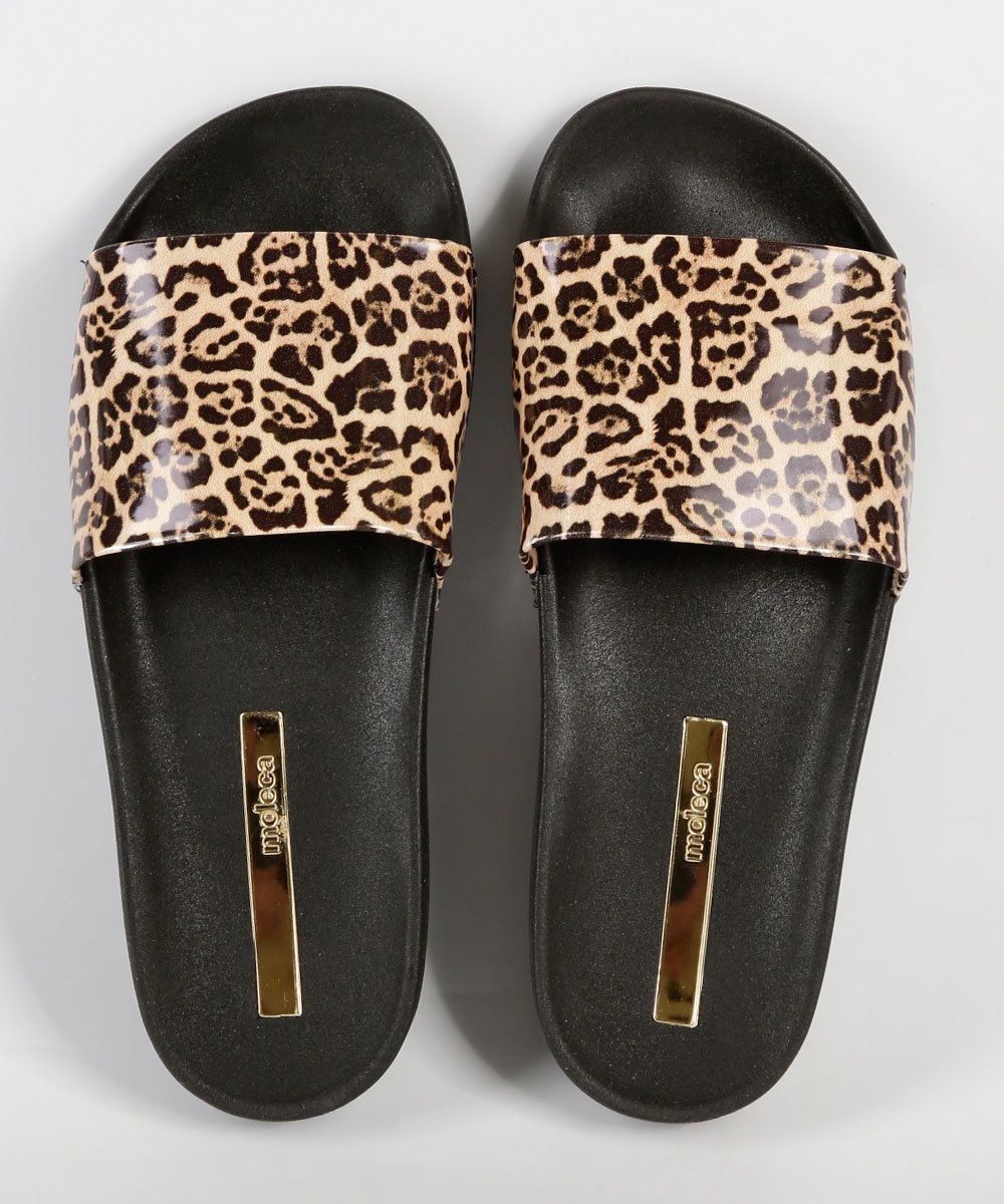 0b77004da Chinelo Feminino Slide Estampa Animal Print Moleca 5414100 em 2019 ...