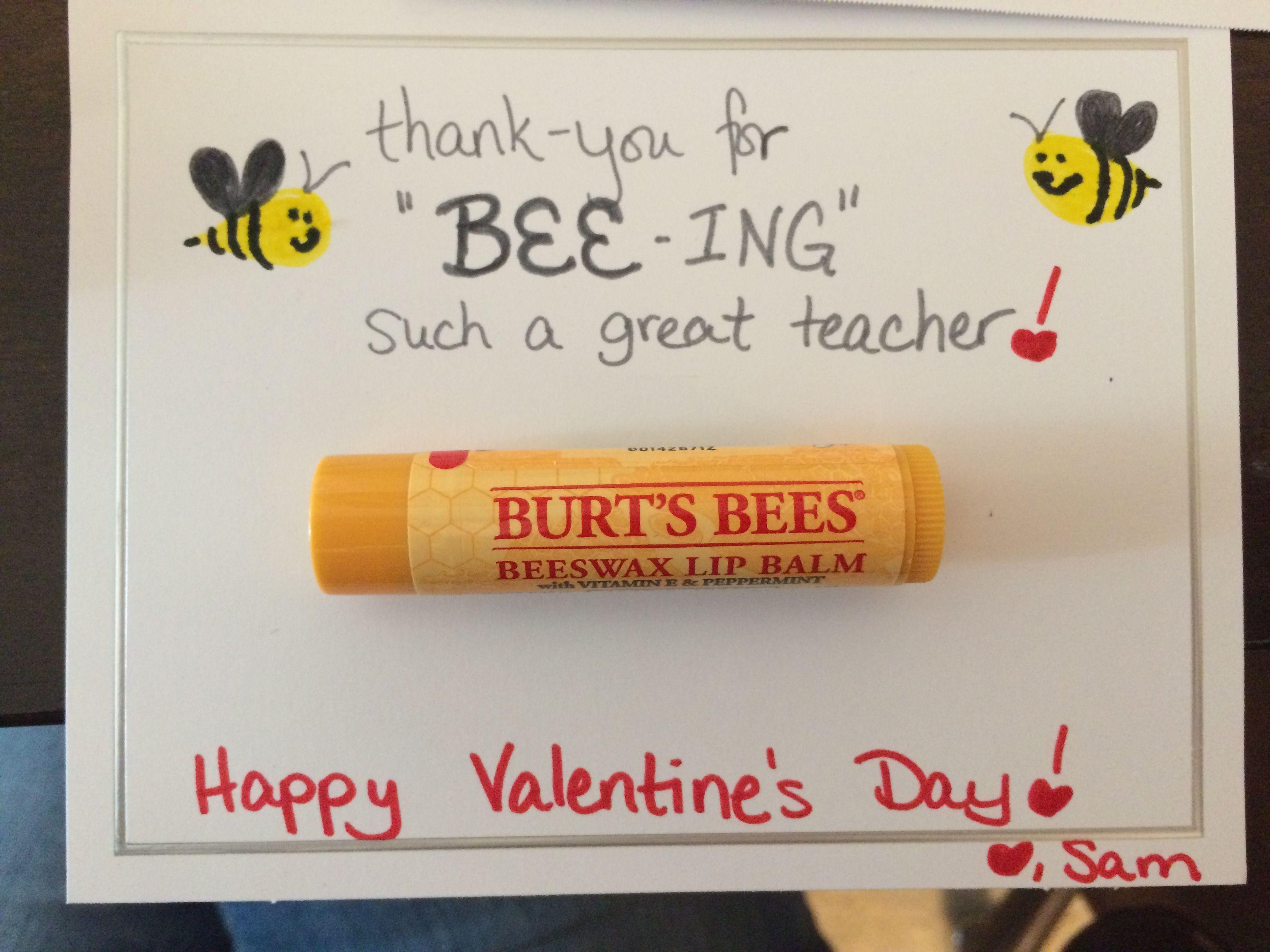 Valentine S Day Teacher Ts Burt S Bees