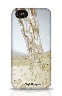 Close Up Of Champagne Being Poured Into A Glass Apple iPhone 4 Phone Case